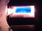Факел газовой горелки МДГГ-40 (0,5 МВт) на печи