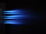 Факел микродиффузионной газовой горелки