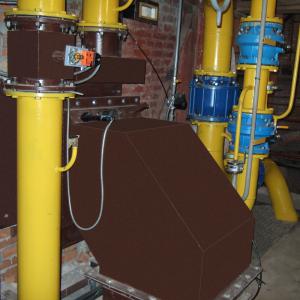 Комбинированная (биогаз/газ) горелка МДГГ-2000п-СГ (25 МВт) на паровом котле БГМ-35М