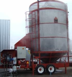 Зерносушилка с блочной дизельной (печное топливо) горелкой МДДГ-75Б