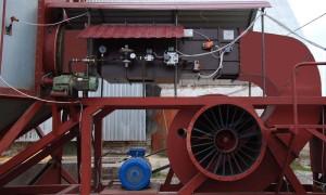 Теплогенератор ТМД-75пр-150 (1,0 МВт) на зерносушилке